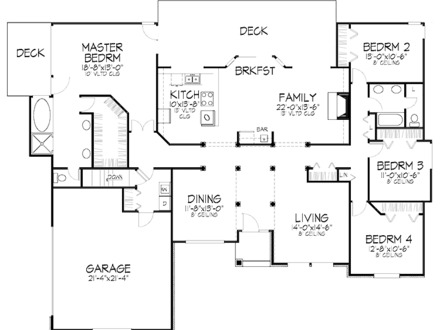 floor plan d - Nigerian House Plans