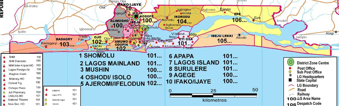 Lagos State Zip And Postal Code
